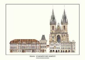 Prague - Altstädter Ring by Architekturplakate