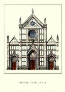 Firenze - Santa Croce by Architekturplakate