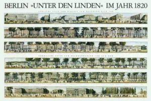 Berlin - Unter den Linden im Jahr 1820 by Architekturplakate
