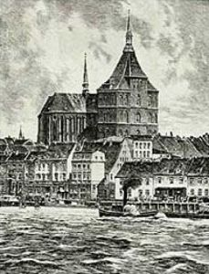 Rostock, St. Marien by Bruck