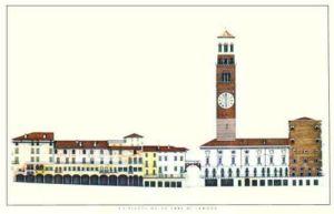 Verona - La Piazza delle Erbe di Verona by Architekturplakate