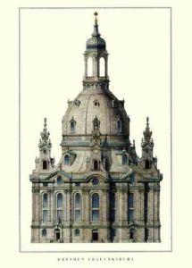 Dresden - Frauenkirche by Architekturplakate