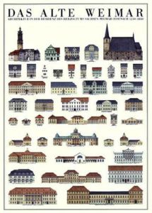 Weimar - Das alte Weimar by Architekturplakate