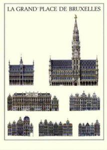Brussels - La Grand Place De Bruxelles by Architekturplakate