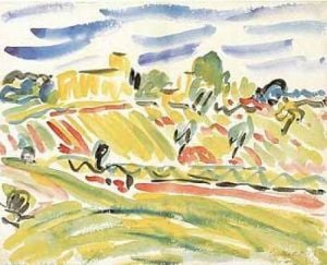 Hügel in der Campagna, 1909 by Erich Heckel