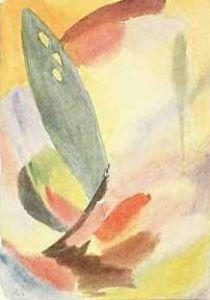 Einsamer grüner Baum, 1917 by Alexei Von Jawlensky