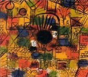Komposition mit schwarzem Brennpunkt by Paul Klee
