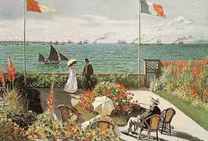 The Terrace at Saint-Adresse, 1867 by Claude Monet