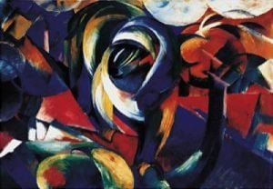Der Mandrill, 1912 by Franz Marc
