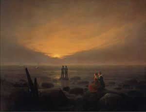 Mondaufgang am Meer, Eremitage by Caspar David Friedrich
