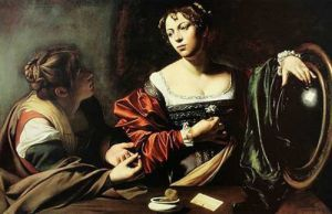 Martha and Mary Magdalene by Michelangelo Merisi da Caravaggio