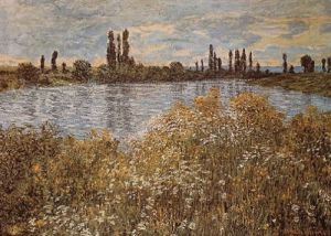 Banks of the Seine by Claude Monet