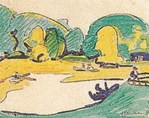 Parklandschaft in Dresden, 1910 by Ernst Ludwig Kirchner