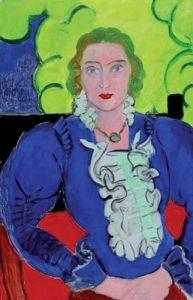 Madame L.D. (The Blue Blouse), 1936 by Henri Matisse