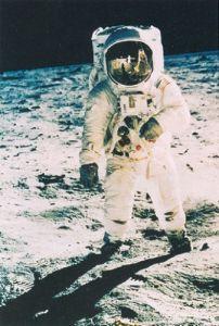 Astronaut Edwin Aldrin on the Moon, 1969 by Nasa