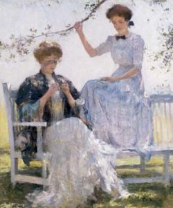 Sunshine and Shadow by Frank Weston Benson