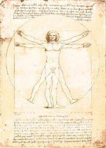 Vitruvian man - 1492 by Leonardo da Vinci