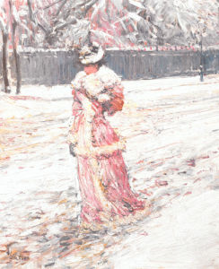 Lady in Pink by Frederick Childe Hassam