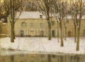 Petite Place au Bord de l'Eau by Henri Eugene Augustin Le Sidaner