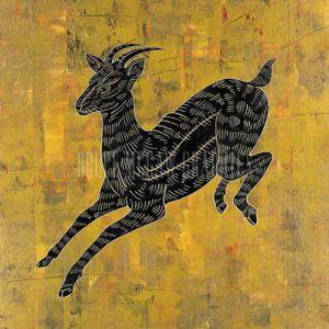 Chimera II (gold foil stamped) by Annrika McCavitt