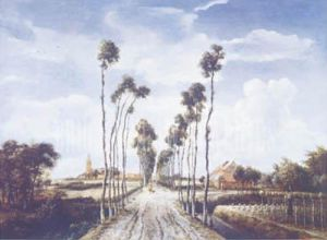 The Avenue at Middelharnis, 1689 by Meindert Hobbema