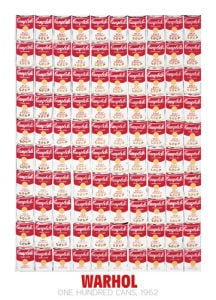 One Hundred Cans, 1962 by Andy Warhol