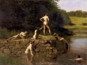 Swimming (The Swimming Hole), 1885 by Thomas Cowperthwait Eakins