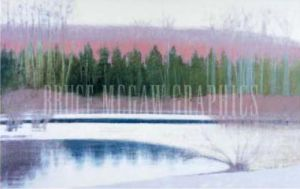 Cedar & Brook-Winter by Judy Friday