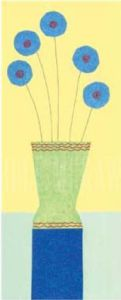 PomPom Cornflowers by Annabel Hewitt