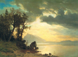 Lake Tahoe, California, 1867 by Albert Bierstadt