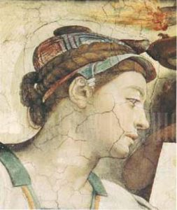 Portrait : Erythrean Sibyl by Michelangelo