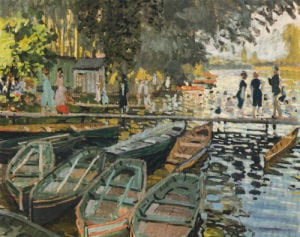 Bathers at La Grenouillere by Claude Monet