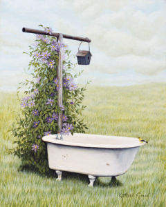Bird Bath by Kathleen Green