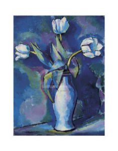 Three White Tulips by Pierre Auguste Renoir