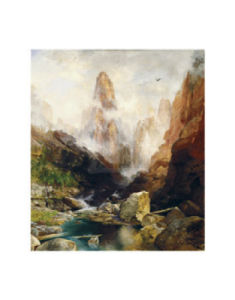 Mist in Kanab Canyon, Utah, 1892 by Thomas Moran