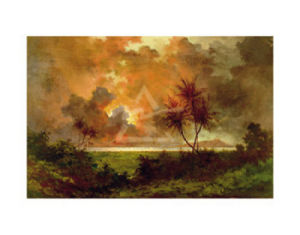 Sunrise over Diamond Head, 1888 by Jules Tavernier