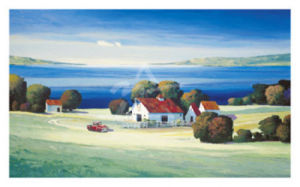 Barns on Gamble Bay by Max Hayslette