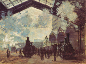 Le Gare St-Lazare, 1877 by Claude Monet