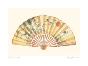 Flying Crane Fan by Lisa Danielle