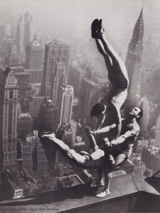 Acrobats on the Empire State Building by Anonymous
