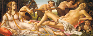 Venus and Mars, about 1485 by Sandro Botticelli