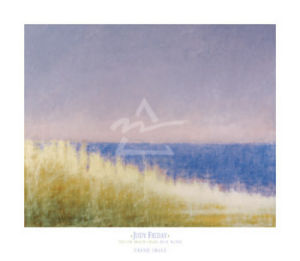 Yellow Beach Grass - Blue Water by Judy Friday