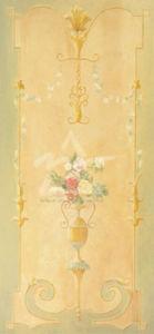Hanging Flower Basket II by Hampton Hall
