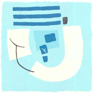 Aegean I (serigraph) by Sally McGill