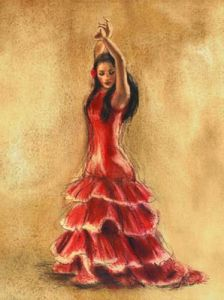 Flamenco Dancer I by Caroline Gold