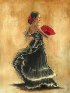Flamenco Dancer II by Caroline Gold