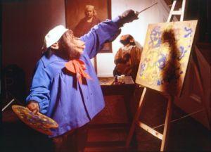 Chimpanzee artist by John Drysdale