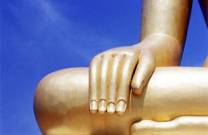 Sculpture of Buddha (detail) by Rosseforp