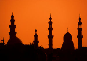 Cairo minarets at sunset by Roland Marske
