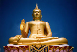 Buddha with three arms by Heinz Krimmer